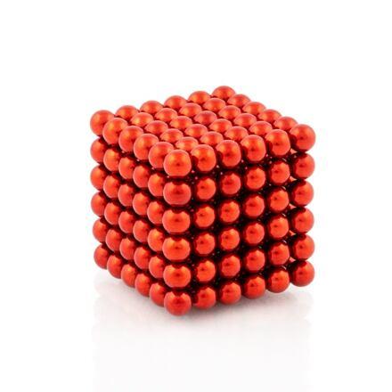 NeoCube červené – magnetická stavebnice, 216 kuliček