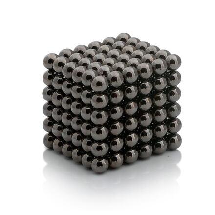 NeoCube černé – magnetická stavebnice, 216 kuliček