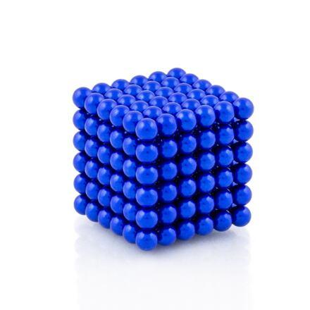 NeoCube modré – magnetická stavebnice, 216 kuliček