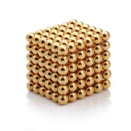 NeoCube zlaté – magnetická stavebnice, 216 kuliček