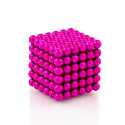 NeoCube růžové – magnetická stavebnice, 216 kuliček