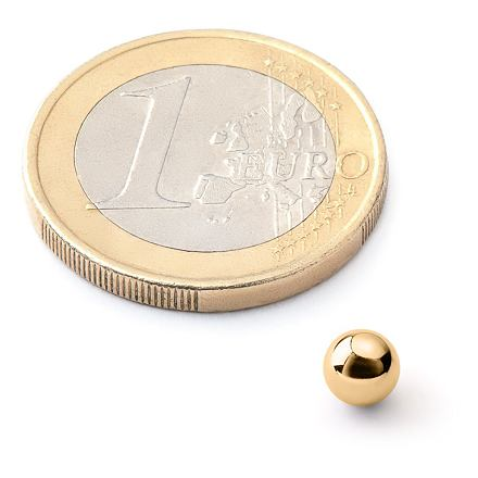 NeoCube 5mm zlaté - náhradní kulička
