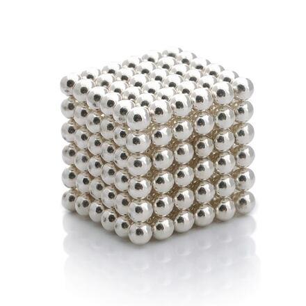 NeoCube stříbrné – magnetická stavebnice, 216 kuliček