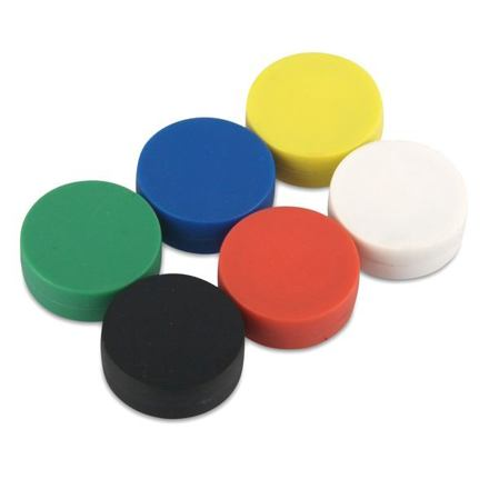 Neodymový kotoučový magnet KT-13-06-P žlutý