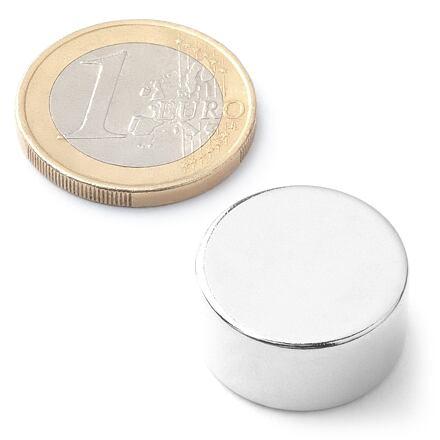 Neodymový kotoučový magnet KT-20-10-N