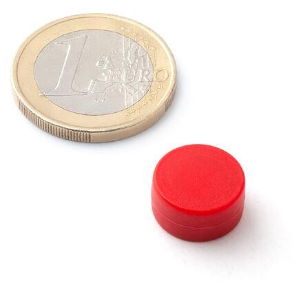 Neodymový kotoučový magnet KT-13-06-P červený