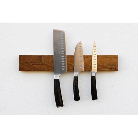 UNIMAG Magnetická lišta na nože – ořešákové dřevo