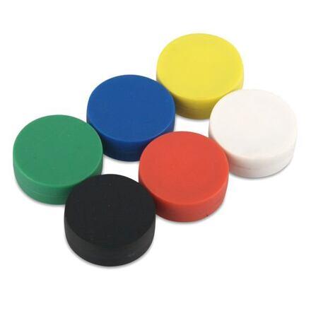 Neodymový kotoučový magnet KT-13-06-P bílý