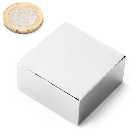 Kvádrový neodymový magnet KV-40-40-20-N