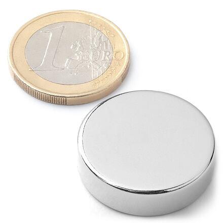 Neodymový kotoučový magnet KT-25-07-N
