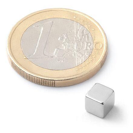 Neodymový kostkový magnet KS-05-N N50