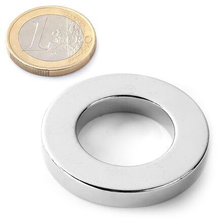 Neodymový kruhový magnet KR-40-20-04-Zn