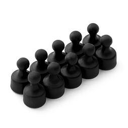 Magnetické figurky M2 černé, 10 ks, 12 × 20 mm