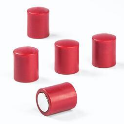 Kancelářské magnety OF-2 červené, 10 ks