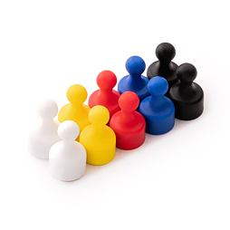 Magnetické figurky M1, sada 10 ks, mix 5 barev