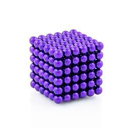 NeoCube fialové – magnetická stavebnice, 216 kuliček
