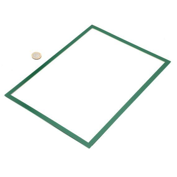 Magnetický rámeček na papír A4 – zelený, s výřezem pro psaní