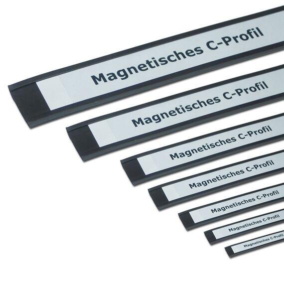 Magnetické štítky, C-profil 10 mm, metráž