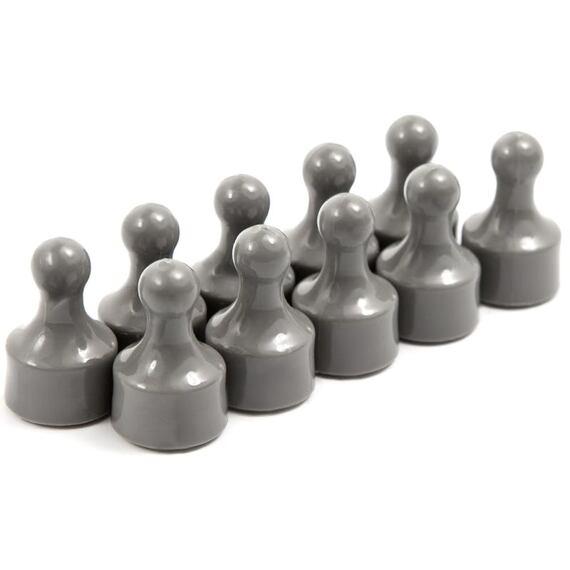 Magnetické figurky M10 šedé, 10 ks, 12 × 20 mm