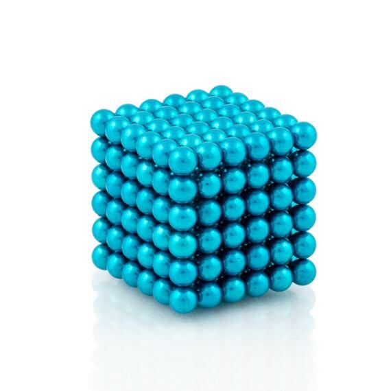 NeoCube světle modré – magnetická stavebnice, 216 kuliček