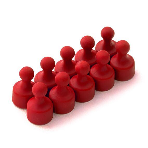 Magnetické figurky M3 červené, 10 ks, 12 × 20 mm