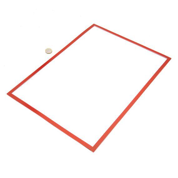 Magnetická kapsa na papír A3 – červená